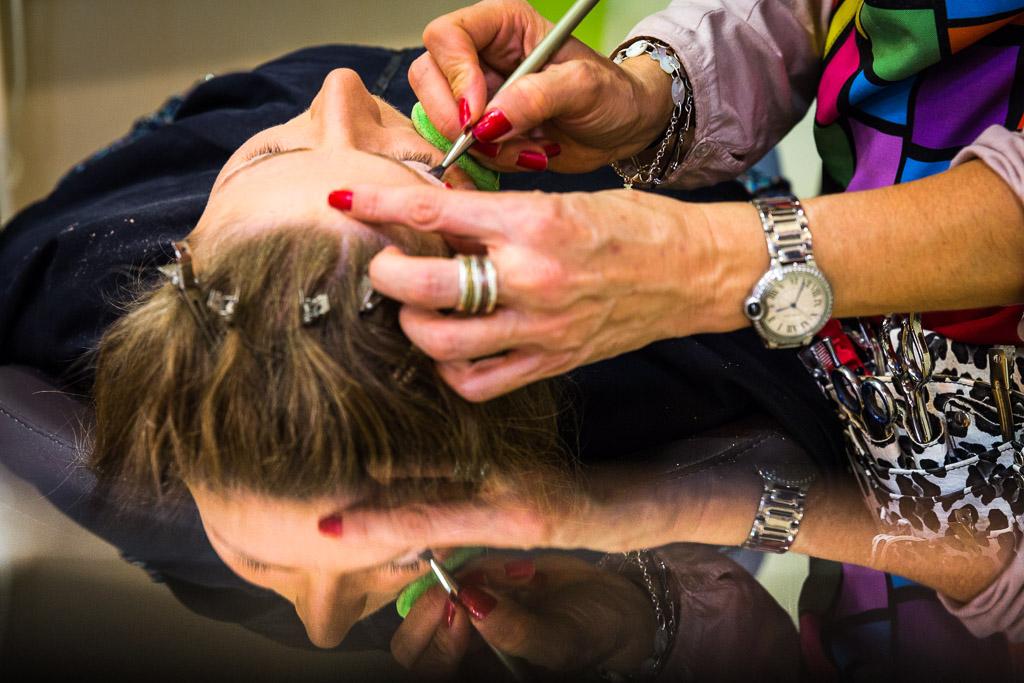 Fotógrafo boda en peluqueria de ATECA