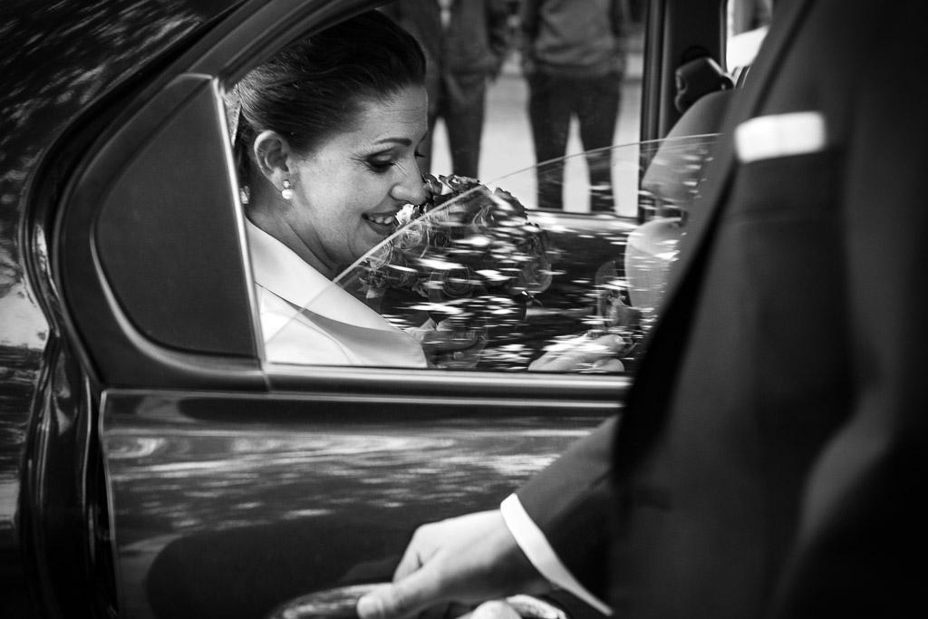 Llegada de la novia a la ceremonia