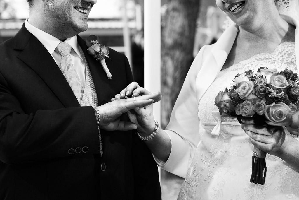 Los anillos en la ceremonia
