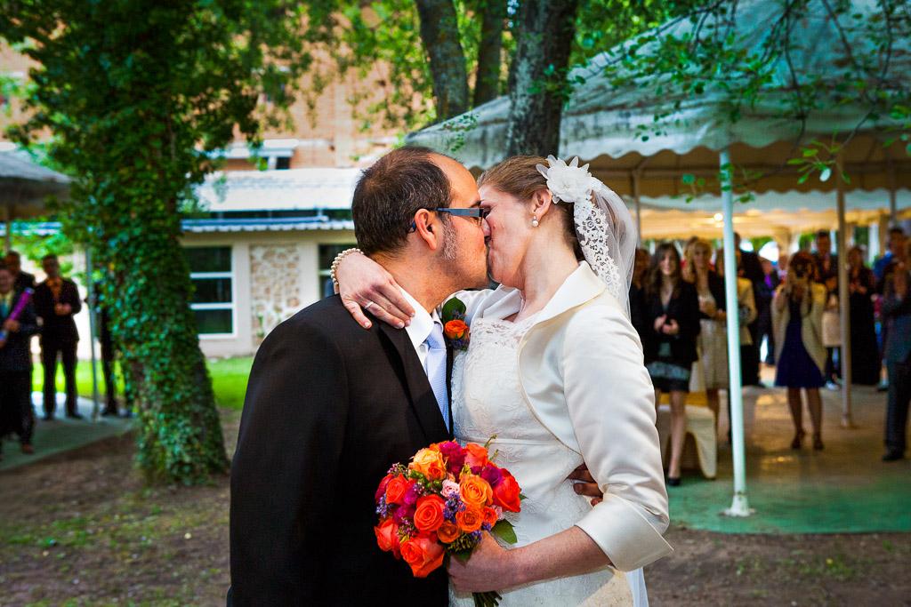 El beso en la ceremonia