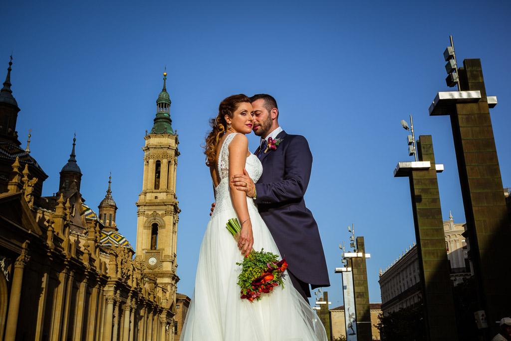 Fotografo de boda en el Pilar en Zaragoza